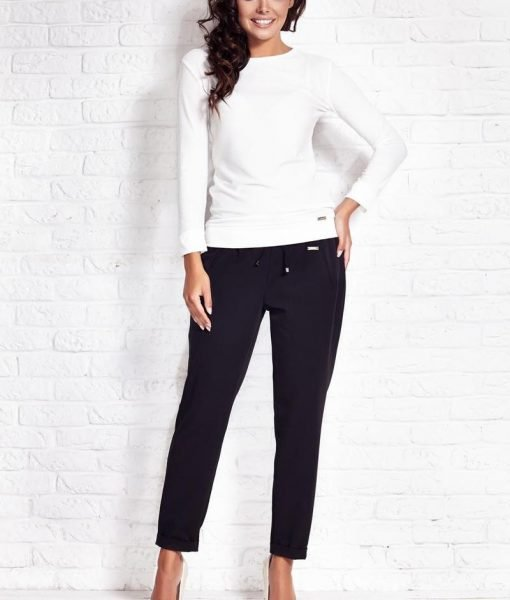 Off White Relaxed Fit Blouse – Blouses > Blouses Long Sleeve –