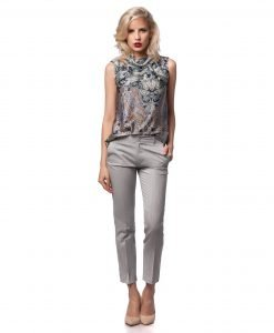 Pantalon office gri 5399 - PANTALONI - Pantaloni office