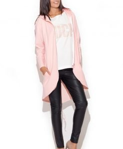 Pink Comfy Dweller Sweater Hoodie Blouse - Sweaters -