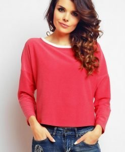 Pink blouse with back slit dippy hemline - Blouses -