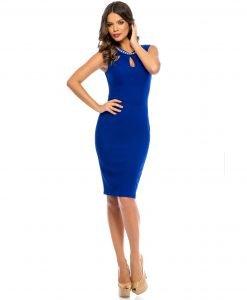 Rochie albastra de ocazie 356 - ROCHII DE SEARA SI OCAZIE - OCAZIE