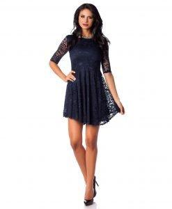 Rochie de ocazie dantela bleumarin 9386-1 - ROCHII DE SEARA SI OCAZIE - OCAZIE