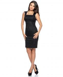 Rochie de ocazie dantela neagra 9282-1 - ROCHII DE SEARA SI OCAZIE - Pentru ocazii