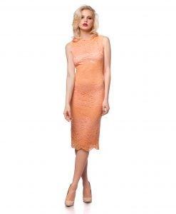 Rochie de ocazie dantela portocalie 9288-5 - ROCHII DE SEARA SI OCAZIE - OCAZIE