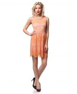 Rochie de ocazie dantela portocalie 9438 - ROCHII DE SEARA SI OCAZIE - OCAZIE