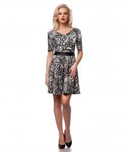 Rochie eleganta alb-negru 9431 - ROCHII DE ZI - Pentru fiecare zi