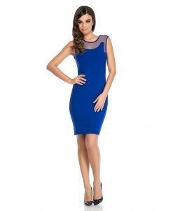 Rochie eleganta albastra 9310-2 - ROCHII DE ZI - Pentru fiecare zi