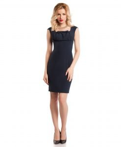 Rochie eleganta bleumarin 9368-2 - ROCHII DE ZI - Pentru fiecare zi