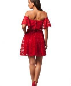Rochie eleganta din dantela rosie - 140 - ROCHII DE SEARA SI OCAZIE - Pentru ocazii