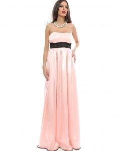Rochie lunga de ocazie tul roz 9360-2 - ROCHII DE SEARA SI OCAZIE - BAL