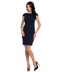 Rochie office brocard bleumarin 9331-1 - ROCHII OFFICE - BUSINESS