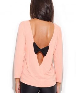 Salmon Pink Coffee Time Classic Blouse - Blouses -