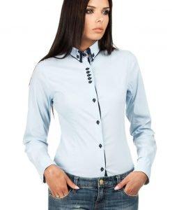 Sky Blue Button Down Collar Executive Shirt - Shirts > Shirts Long Sleeve -