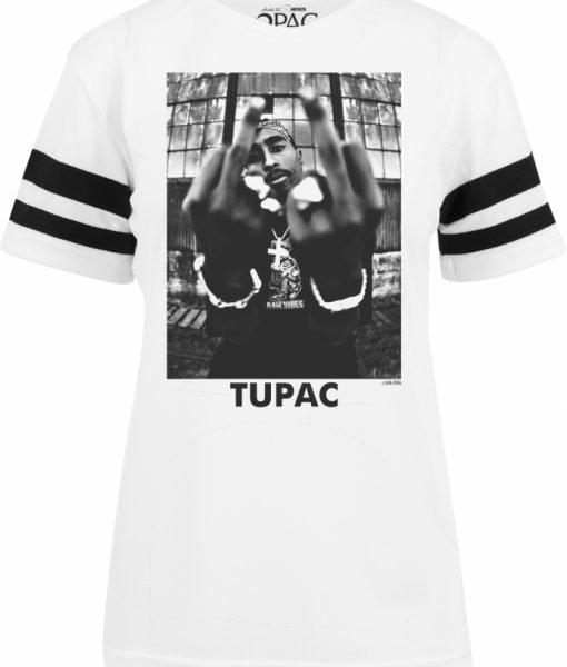 2Pac Stripes Tee pentru Femei alb Mister Tee – Tricouri cu trupe – Mister Tee>Trupe>Tricouri cu trupe
