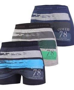 3pack boxeri barbatesti EB1614 - Lenjerie pentru barbati - Boxeri multicolori