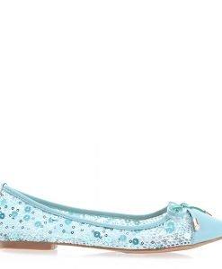 Balerini dama Cevele albastri - Incaltaminte Dama - Balerini Dama