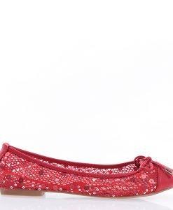 Balerini dama Cevele rosii - Incaltaminte Dama - Balerini Dama