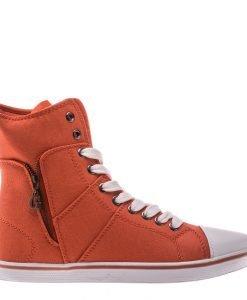 Bascheti dama Aden portocalii - Incaltaminte Dama - Pantofi Sport Dama