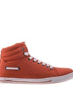 Bascheti dama Mary portocalii - Incaltaminte Dama - Pantofi Sport Dama