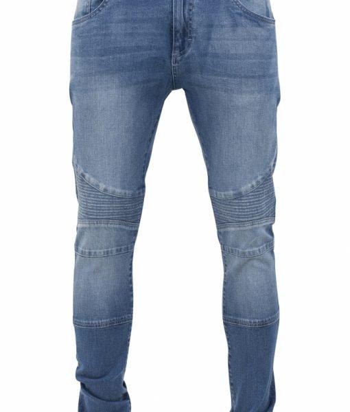 Blugi Slim Fit Biker albastru-washed Urban Classics – Barbati – Urban Classics>Colectie noua>Barbati