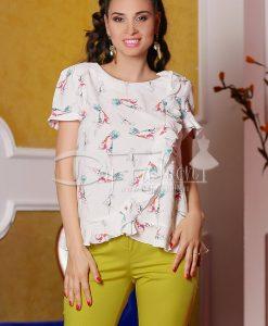Bluza Belinda Alba Din Voal - Haine - Bluze/Camasi