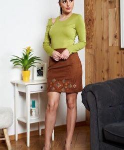 Bluza Dama Verde-deschis StarShinerS Cu Decupaje In Material - Bluze -