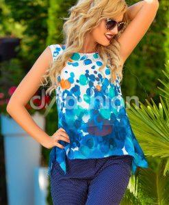 Bluza Dama cu Imprimeuri din Voal - ROCHII -