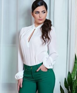 Bluza Daniella Cristea Focus White - Bluze -