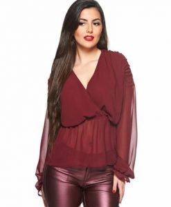 Bluza Daniella Cristea Love Illusion Burgundy - Bluze -