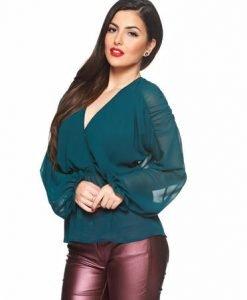 Bluza Daniella Cristea Love Illusion Green - Bluze -
