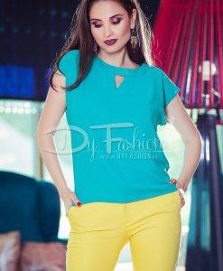 Bluza Dina Verde Din Voal - Haine - Bluze/Camasi