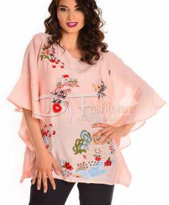 Bluza Joy Roz Pudra Eleganta - Haine - Bluze/Camasi
