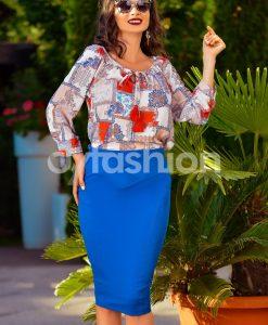 Bluza Mina de Zi cu Imprimeuri - Haine - Bluze/Camasi