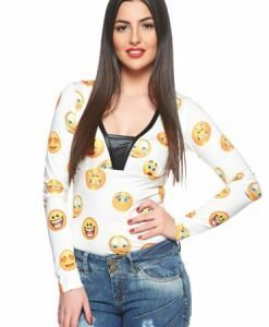 Bluza MissQ Lovely Smile White - Bluze -