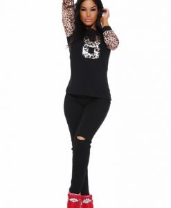 Bluza MissQ My Number Black - Bluze -