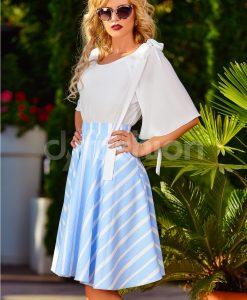 Bluza Petronela Alba din Voal Vaporos - Haine - Bluze/Camasi