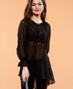 Bluza PrettyGirl Diaphane Black - Bluze -