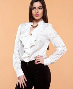 Bluza PrettyGirl Flame Design White - Bluze -