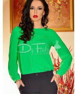 Bluza Voal Verde De Dama - Haine - Bluze/Camasi