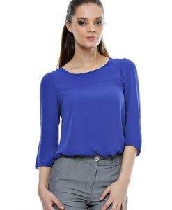 Bluza albastra din voal B03 - Bluze si topuri -