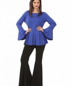 Bluza albastra eleganta B090-A - Bluze si topuri -