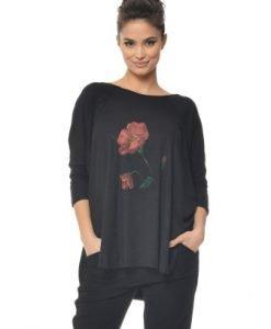Bluza asimetrica cu pictura manuala CBM1046 - Bluze si topuri -