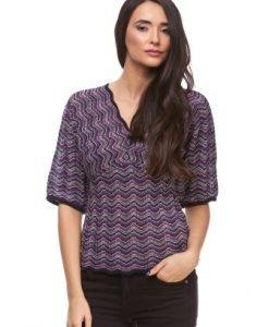 Bluza bleumarin din tricot 1377D - Bluze si topuri -