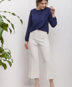 Bluza bleumarin lejera din voal CI188 - Bluze si topuri -