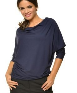 Bluza casual din jerse BN05 bleumarin - Bluze si topuri -