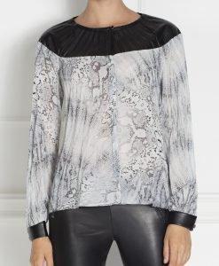 Bluza chic din voal plisa Imprimat - Imbracaminte - Imbracaminte / Topuri