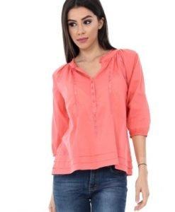 Bluza corai din bumbac BR1298 - Bluze si topuri -