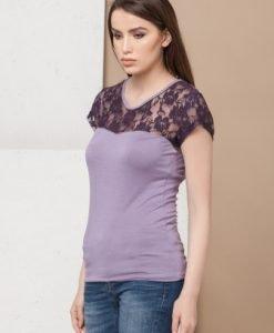 Bluza cu broderie de dantela CI2029 - Bluze si topuri -