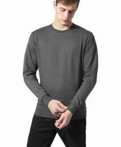Bluza cu guler rotund melange - Bluze cu guler rotund - Urban Classics>Barbati>Bluze cu guler rotund