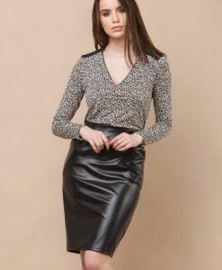 Bluza cu imprimeu leopard TDRI - Bluze si topuri -